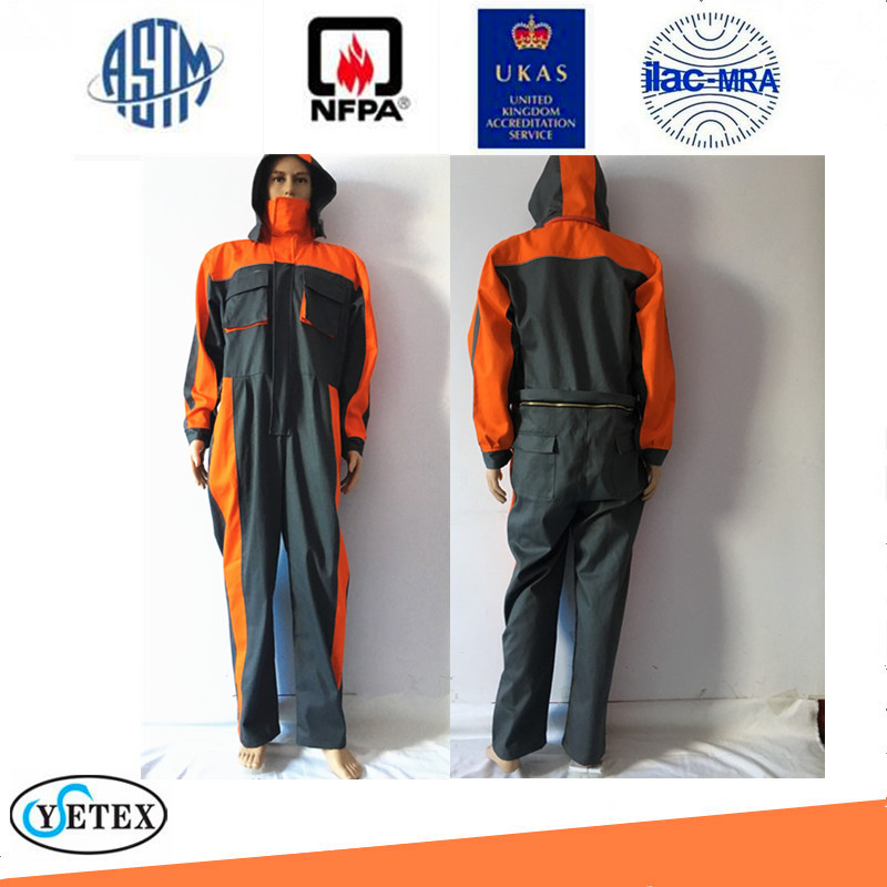 2 tones FR coveralls with hood