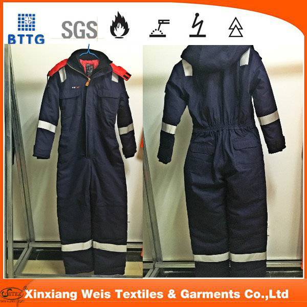 flame retardant antistatic  winter insulated coverall
