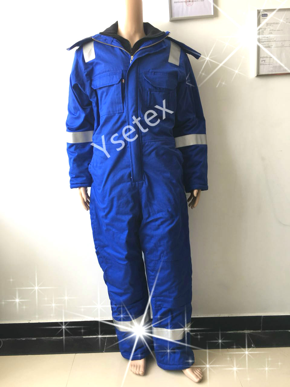 royal blue flame retardant anti static winter coverall