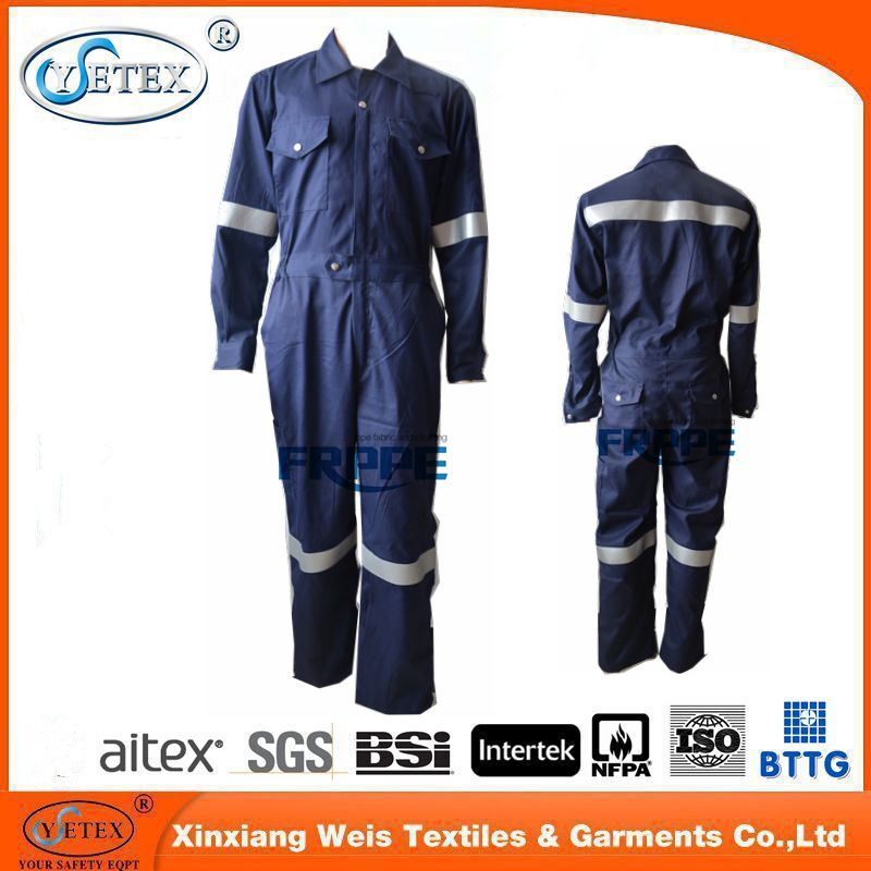 Modacrylic/Cotton permanent Fireproof Safety Coverall