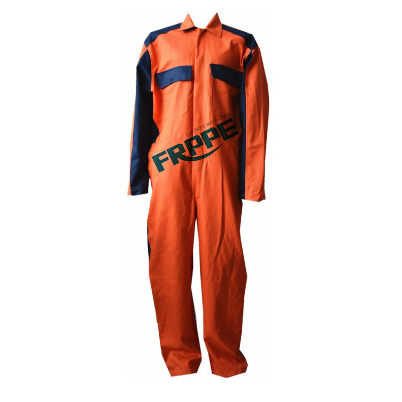 fireproof antistatic ripstop two tone cotton polyester protective coverall