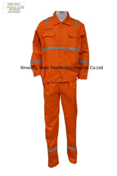 Orange Fr Suit Anti Static Jacket Pants